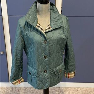BURBERRY!!! Gorgeous Mint Green Traditional Jacket